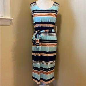 NWT Laundry Sleeveless Belted Dress - Size Large